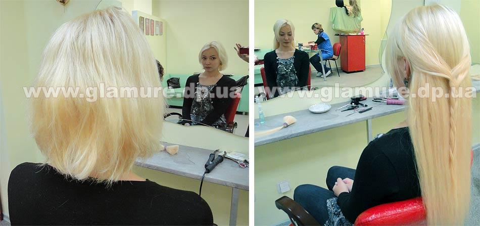Наращивание волос домашних условиях фото